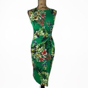 Forever XXI Floral midi dress size L